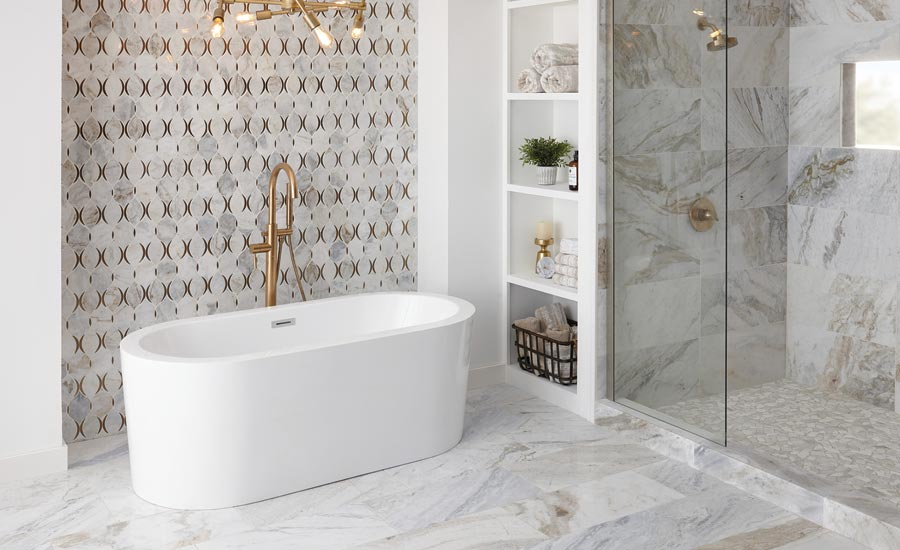 American Olean's Presario marble tile collection