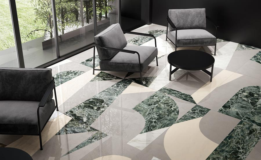 Ceramica Fioranese's Sound of Marbles collection