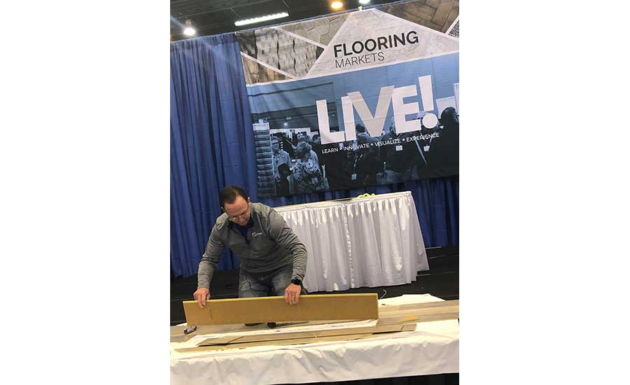 Product demo on Southeast Flooring Market LIVE! stage