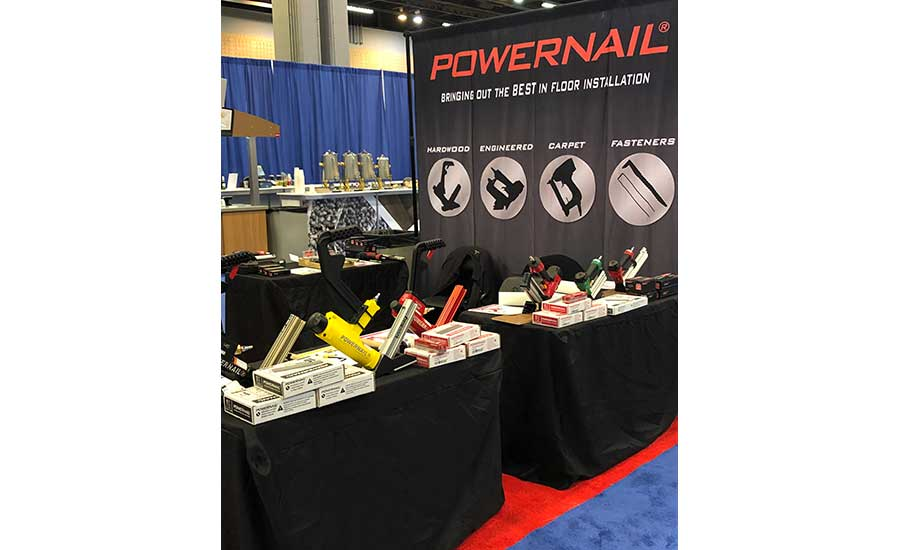 Powernail booth at Southeast Flooring Market