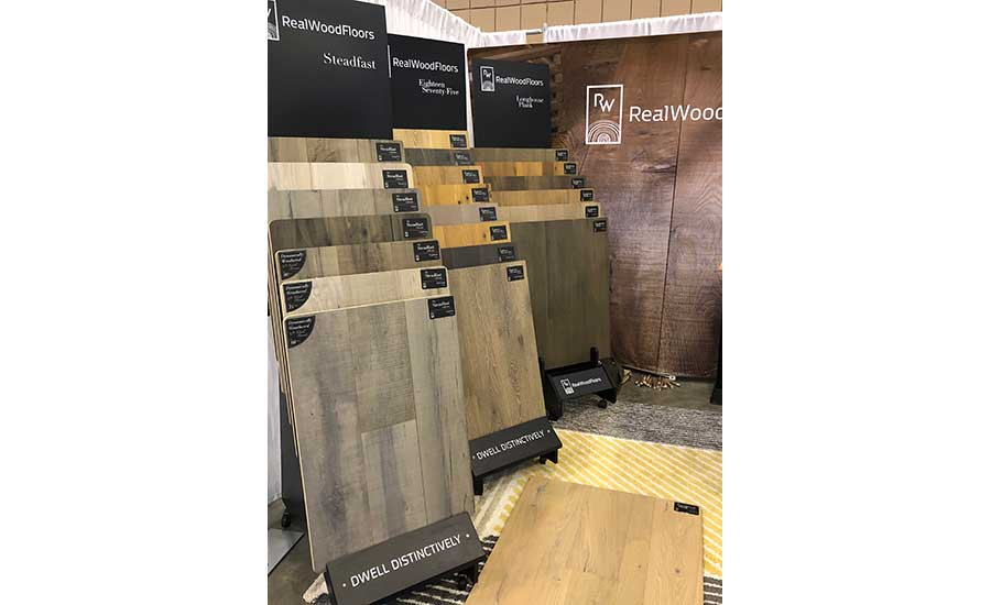 Real Wood booth at the Southeast Flooring Market