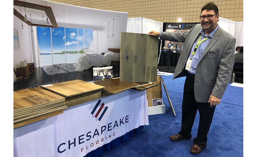 Chesapeake Flooring booth at Southeast Flooring Market