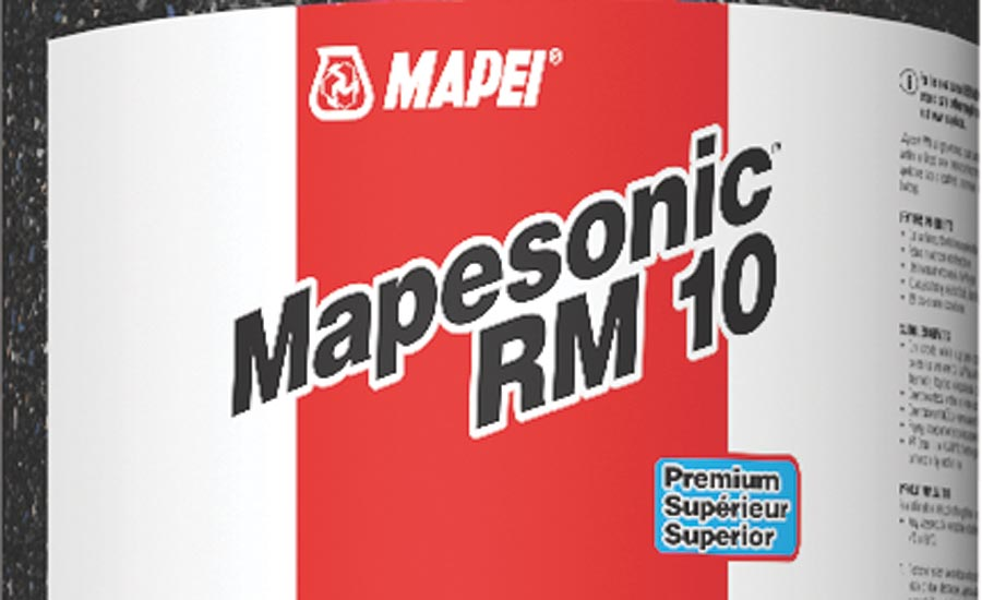 MAPEI's Mapesonic RM acoustic underlayment