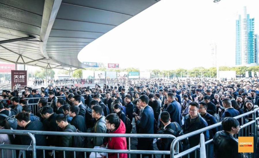 Domotex shanghai crowds