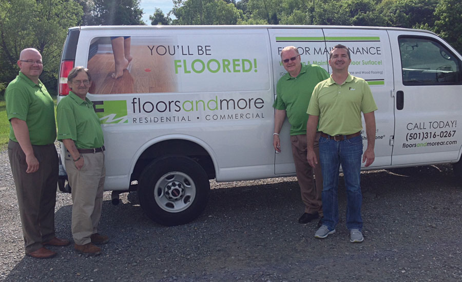 Floors and More's branded van