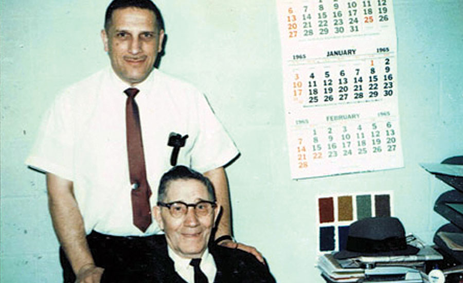 Frank Cohen and his father Abe, circa 1965.