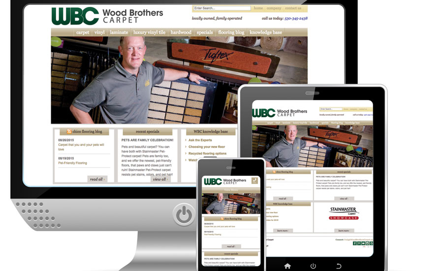 Wood Bros Carpet grows business with new website design
