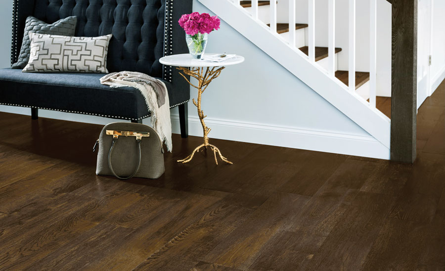 Color and design trends update residential flooring for Trends in wood flooring