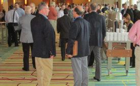 NAFCD/NBMDA attendees wait to enter