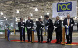 Nox chairman and CEO cut ribbon on new plant
