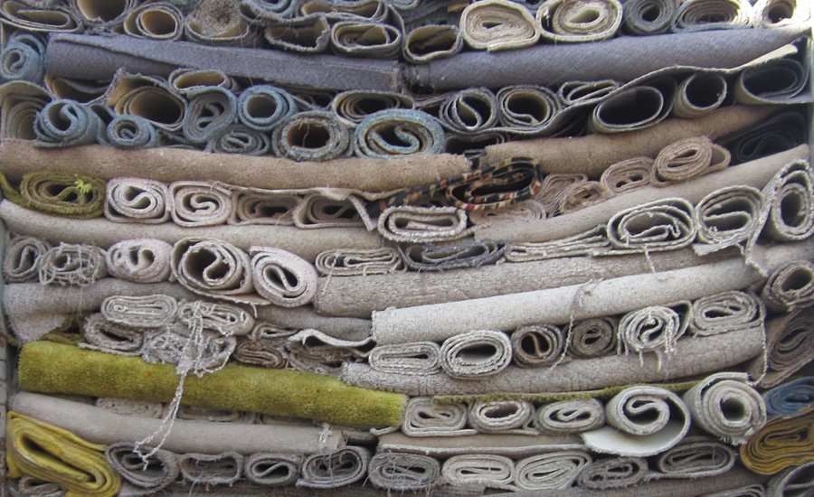 Nylon carpet recycling has decreased with the fall of oil prices