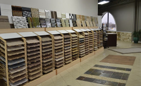 A variety of available flooring products and choices