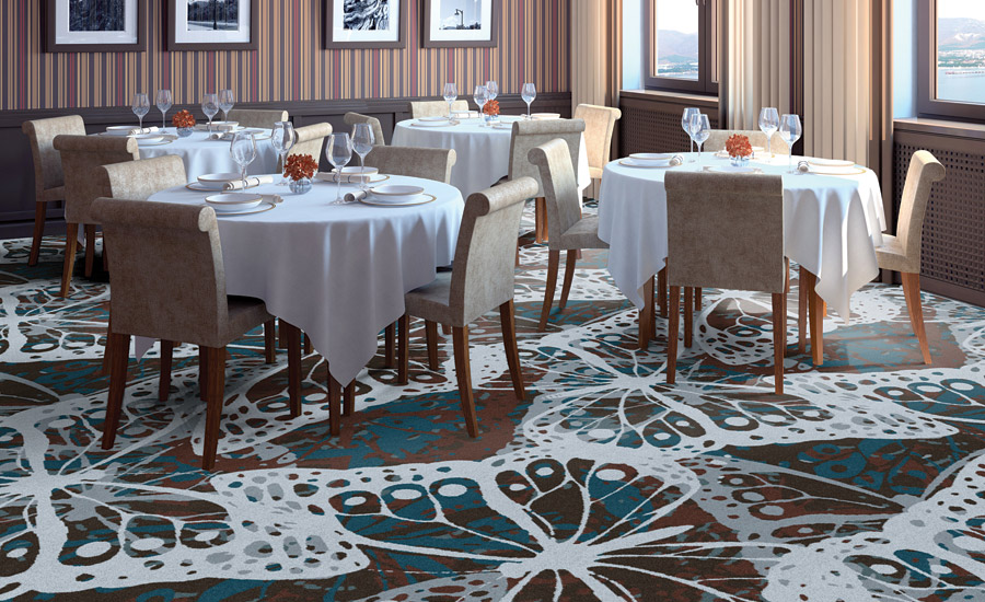 large-scale designs in hospitality carpet