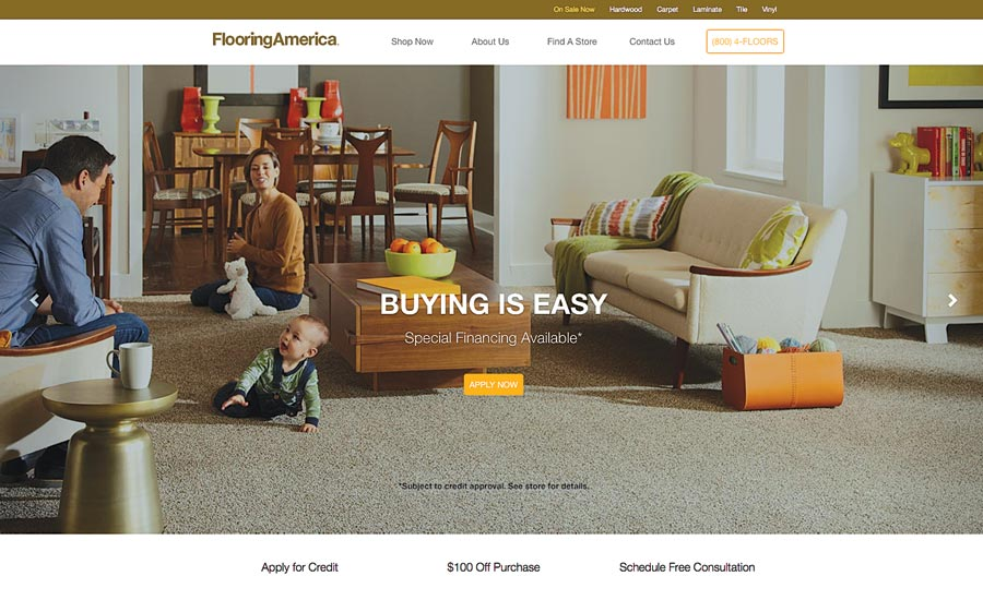 FlooringAmerica website