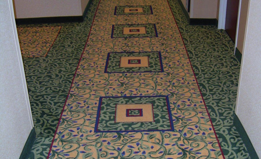 hotel corridor carpet installation