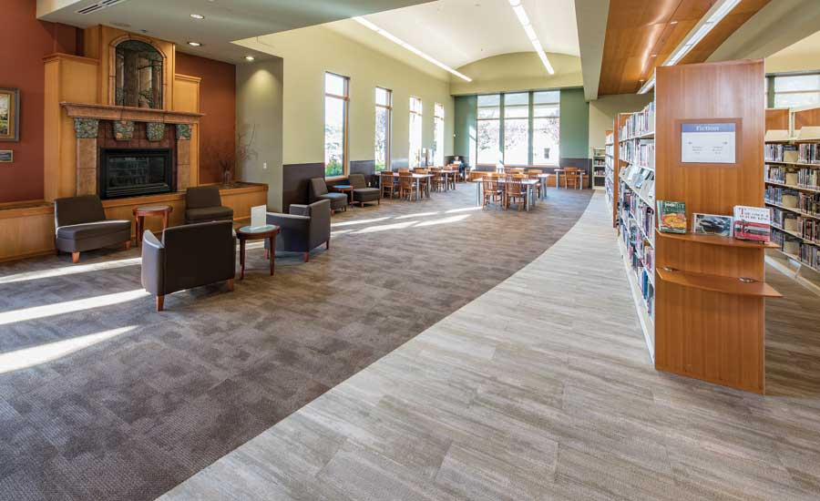 Milliken's Latitude and Color Field carpet tiles