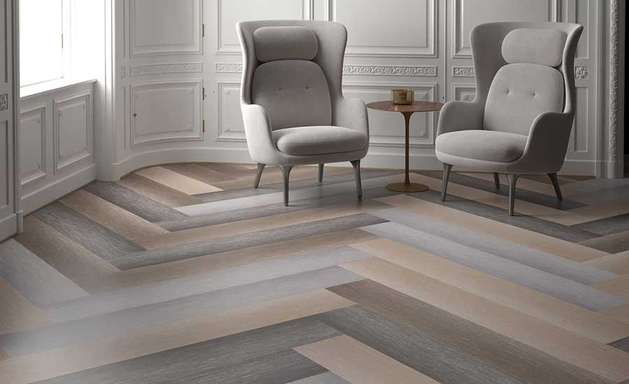 Lineate resilient tile collection