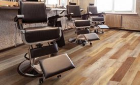 resilient flooring in barber shop