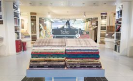 Tartan display in Jim's Carpets and Floorstore showroom