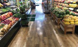 flooring installations in Mollie Stone's supermarket
