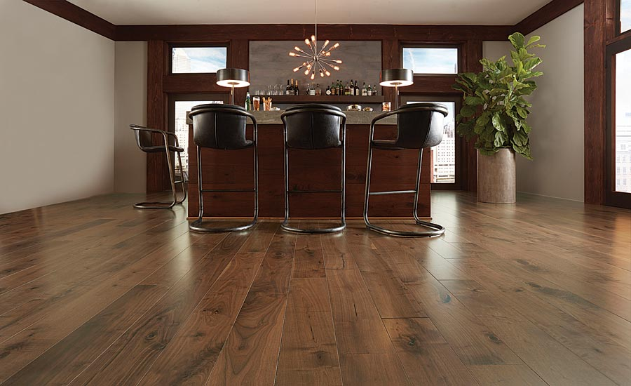 hardwood flooring in hospitality setting