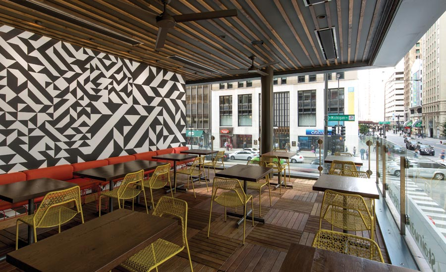 Havwoods hardwood flooring in Nando's Chicago