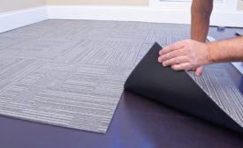 carpet tile on MagneBuild underlayment