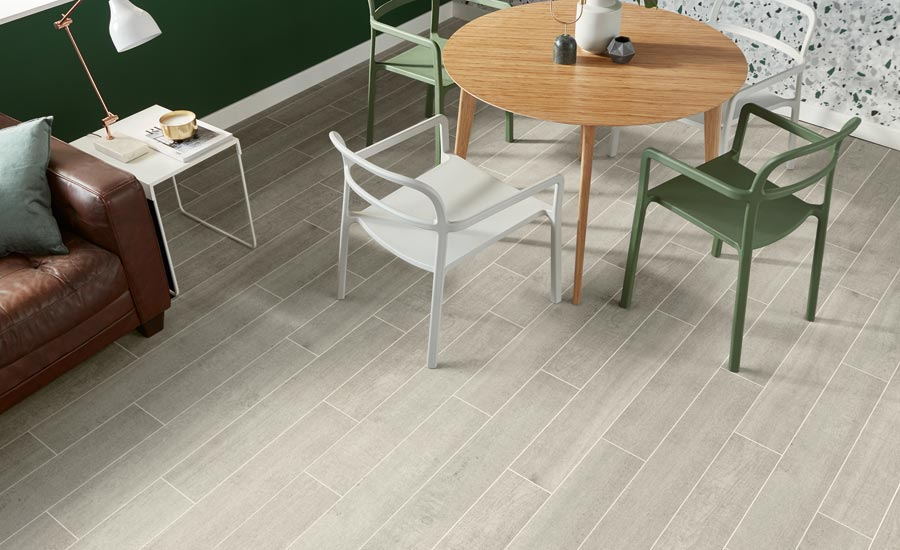 mixed materials and colors in flooring