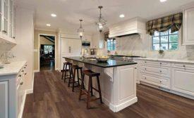 LVP flooring in kitchen
