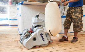 sanding and finishing hardwood floor
