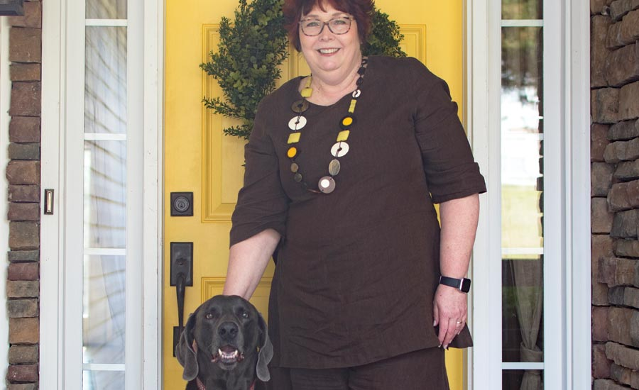 Pam Rainey and her dog