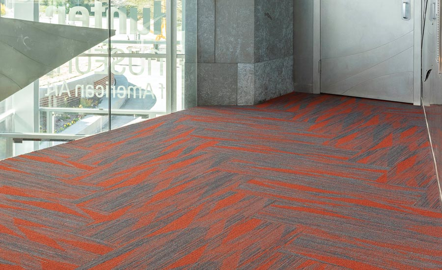 Folded Paper Modular Carpet by EF Contract