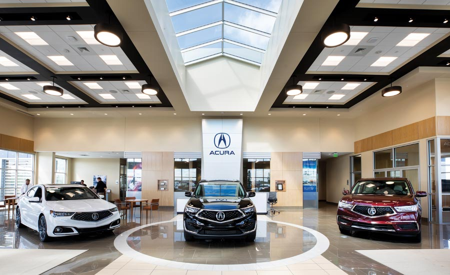 Acura dealership flooring installation