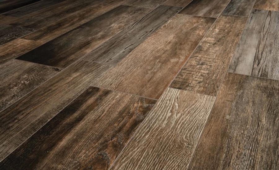 Ceramic Tile Works' Barnwood porcelain tile