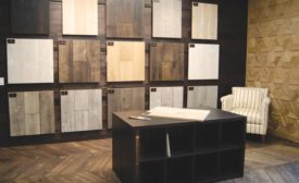 wood flooring display
