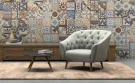 patterned wall tile