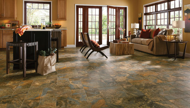 Armstrong's Alterna luxury vinyl tile flooring