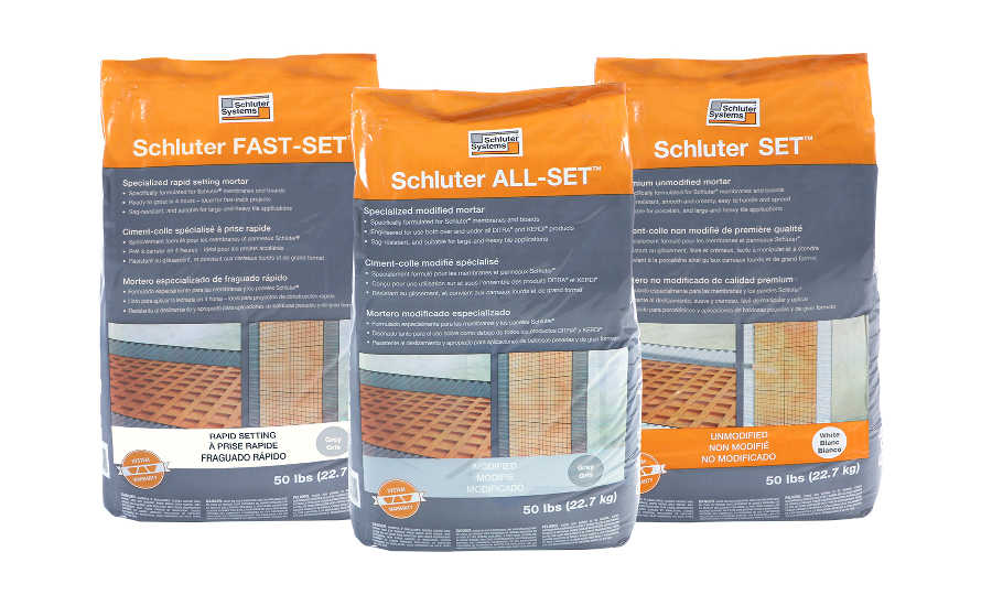 Schluter-Systems Introduces Three Thin-Set Mortars | 2017 ...