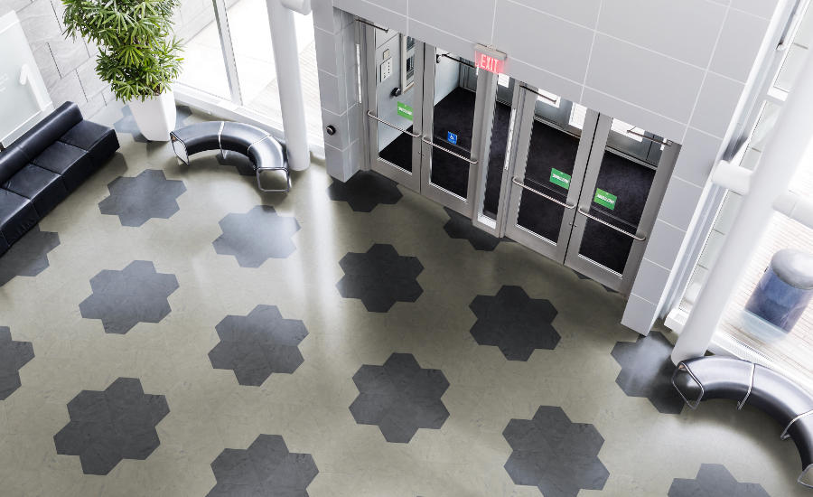 Pentagonals Rubber Tiles Deliver Refined Looks From Every Angle