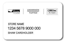 Shaw credit card