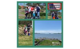 MTX employees gathered at Veteran's Memorial Park in Norwalk, Connecticut, on May 15, 2021,  to take part in a coastal cleanup arranged by Save the Sound.