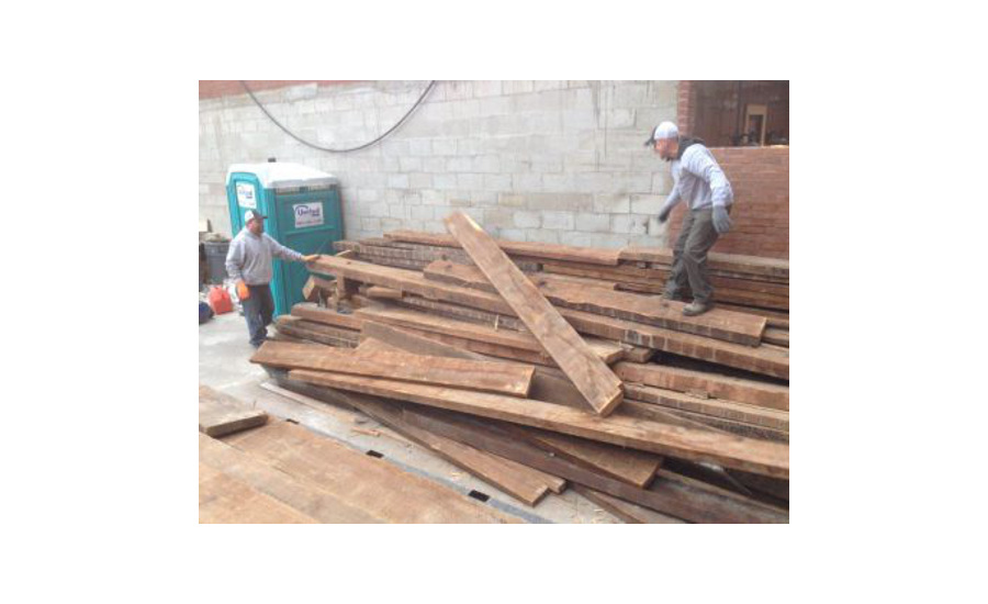 Longleaf Lumber Has Sourced Reclaimed Wood From Bostonu0027s Historic 474  Beacon Street.