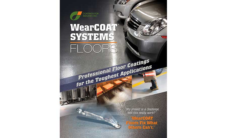 Coatings for Industry's Wearcoat brochure
