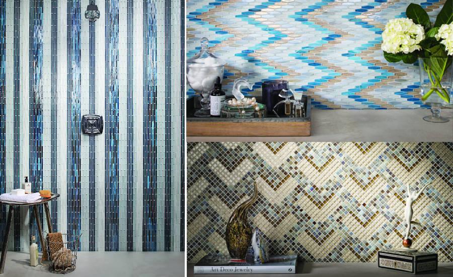 Lunada Bay Tile Introduces Textile Glass Mosaic Line