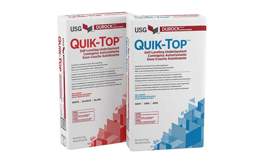 Product Of The Week Quik Top Self Leveling Underlayment