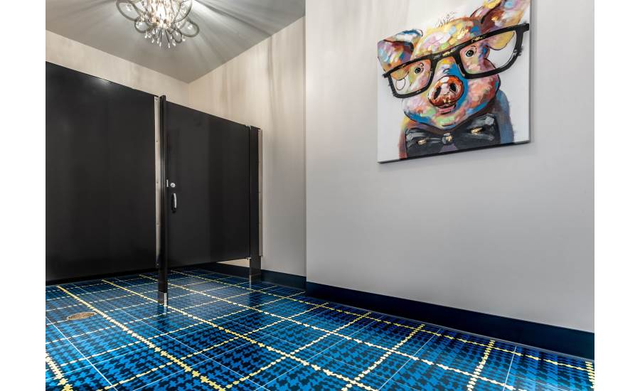 Brit Themed Colorful Plaid Floor Tile Featured In New Luxury